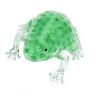 Squeeze jouet de décompression, 8cm fantaisie transparente Simulation grenouilles, perle Boule de Stress, Sticky soulager le stress jouet, Super Doux variable Forme Dessin animé puzzle jouet éducatif