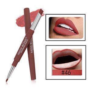Tefamore Miss Rose Double-Fin Lining Durable imperméable Lip Liner Stick Pencil 8 Couleur (Y-E)