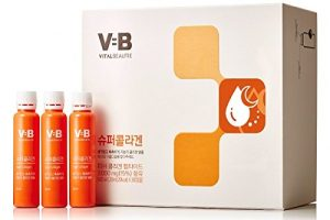 Vital Beautie programme VB super collagène 20ml X 30 ampoules, 700ml totale Vif et humide, le collagène de faible masse moléculaire ampoule + cadeau