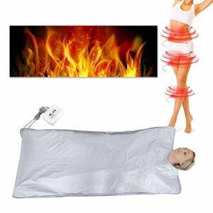 220V Couverture Sauna Chauffante Infrarouge Lointain Thérapie Thermique Amaigrissement Perte de Poids