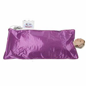 220V Couverture Sauna Chauffante Infrarouge Thérapie Thermique Corps Amincissant Perte de Poids(Violet)