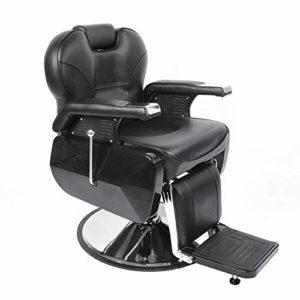 Fauteuil de coiffeur hydraulique inclinable pour salon de coiffure – Hauteur réglable