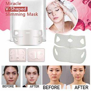 Miracle V-Shaped Slimming Mask Face Care Slimming Mask Le masque facial amincissant la ceinture faciale(2PCS)