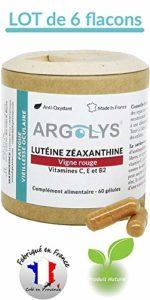 Argolys® – Lutéine, Zéaxanthine, Vigne rouge, bêta-carotène, vitamines, zinc et sélénium (6 flacons)