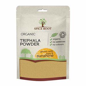 Bio Poudre de Triphala Biologique 200g (Organic Triphala Powder) – Certifié Biologique, Qualité Premium | Vegan | Ayurveda | Fait avec des fruits d'Amla, Haritaki et Bibhitaki