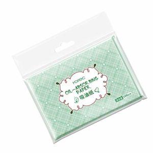 Jinzuke 100 Feuilles/Sac Usine Visage Huile Absorbant matifiantes Papier Tissues Handy Visage Blotting Feuilles Soins du Visage de la Peau