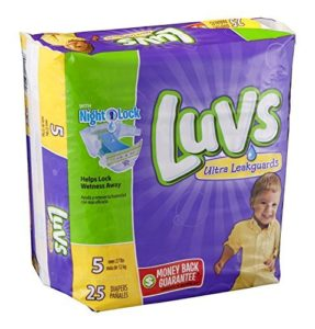 Luvs Étirez avec Taille 5 Ultra Diapers Leakguards, 25 comptage par paquet – 4 par cas.