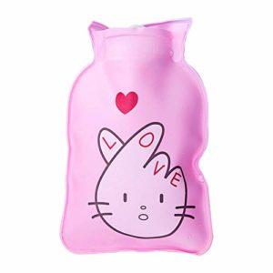 Youyun Bouillotte Motif Dessin animé en PVC Sac d'eau Chaude Portable Mini Bouteille d'eau Chaude d'hiver 15cm*10.5cm