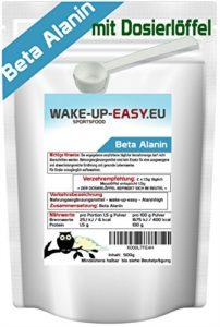 500g Bêta-Alanin pure en poudre (facilement soluble), cuillère doseuse incluse