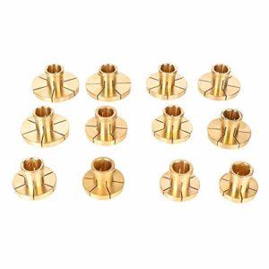 Pièces Professionnelles de Machine à Bijoux, équipement de Bijouterie, Outils en Or, équipement de Forme Ronde en cuivre(Clip de Bracelet en cuivre (Lot de 12))