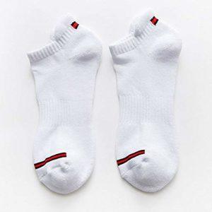 YAOSHIBIAN-Socks Chaussettes de Basket-Ball d'escalade extérieures de Poignet de Talon, Décontracté Confortable (Couleur : White)
