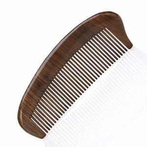 FUBULECY Mini Cheveux Courts antistatiques portatifs, ébène de Peigne à Dents Larges pour Cheveux bouclés (Couleur : Ebony)