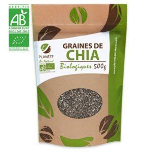 Graines de Chia Bio – 500g (Salvia hispanica)