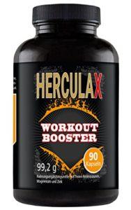 HERCULAX gélule de renforcement musculaire I brûleurs de graisse Bodybuilding | Compléments nutritionnels Fatburner I L-Arginine à haute dose pour une croissance musculation rapide I 90 Capsules