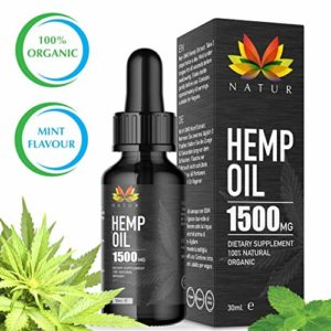 Huile de chanvre Natur | L'extrait de chanvre naturel favorise un mode de vie sain | Extraction de CO2 | Hemp Oil | 1500 mg, bottle of 30 ml