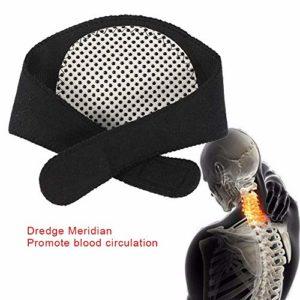 Nitrip Attelle de Cou Ceinture Souple Cou magnétique Protéger Le Collier Santé Soulagement de la Douleur réutilisable Thérapie par la Chaleur Attelle Wrap Sangle Soutien Confortable