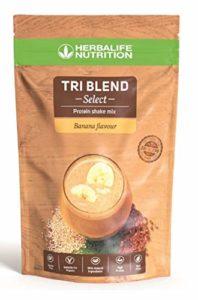 Tri Blend Select – Protein Shake Mix avec Protéine de Pois, Quinoa et Graines de Lin, flaveur Banane – 600 g