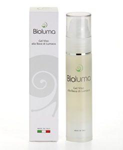 bioluma Bave d'Escargot Gel Visage 50 ml avec allantoïne élastine Collagène Vitamines A C et pour visage cou et Decolletè antietà anti-rides hydratant