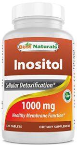 Meilleur Naturals Inositol 1000mg 120comprimés–Aussi Appelé Vitamine B8