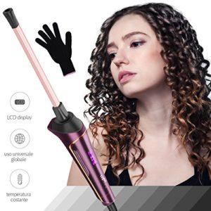 Mini Fer à Friser,Fer à Boucler en Céramique 9mm Petites Boucleur – Pour les Cheveux Courts / Moyens / Longs – Prise EU