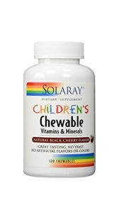 Solaray – Children's à macher Vitamines et Mineraux Natural Black-Cerise 120 tablettes à macher