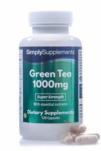 Thé Vert 1000mg | 120 Gélules EasyGest | Contient maintenant de la vitamine B1 et du chrome | Adapté aux Végétariens | Fabriqué au Royaume-Uni