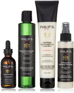 Philip B Four Step Hair & Scalp Treatment Set – Classic Formula (For All Hair Types) 4pcs