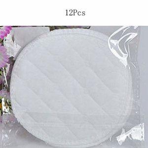 12pcs femmes coussin anti-fuites réutilisable pour le sein nourricier protège-sein lavable absorbant doux nourrir l'allaitement – comme le montre la photo