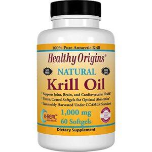 Healthy Origins, Krill Oil, Natural Vanilla Flavor, 1000 mg, 60 Softgels