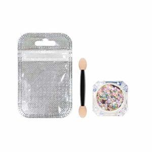 MineMine Maquillage Paillettes Set Cosmétique Cheveux Yeux Ongles & Corps Sparkle Chunky Glitter Paillette pour Festival Noël, 13 Couleurs