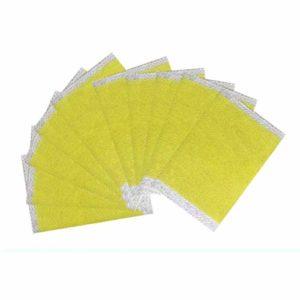 10PCS / Sac de couchage Minceur Plâtre Corps Parfait Formant Pâte Abdomen Traitement Patch Maigre Taille Patch (jaune)