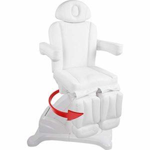126673 Chaise de pédicure blanc elettrico