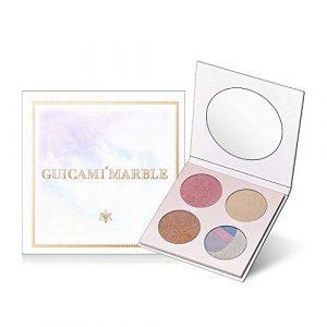 4 couleurs surligneur Maquillage Palette Illuminating bronzants Contour poudre Kit éclaircissant surligneur Kit de maquillage professionnel pour les femmes filles 1pc