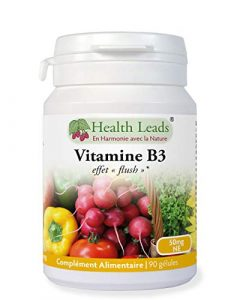 50 mg de vitamine B3 (niacine) x 90 gélules