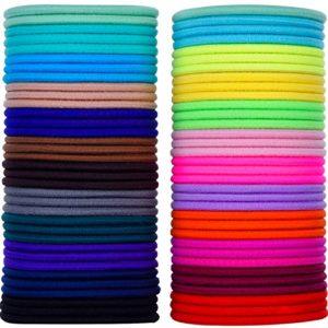 69 Pièces 3mm Multicolor Élastiques Bande de Cheveux Aucun Métal Élastiques Doux