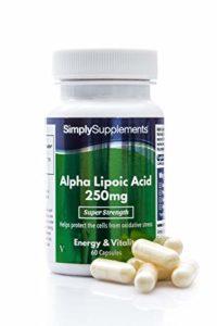 Acide Alpha-Lipoique (AAL) 250mg, 60 Gélules – Support Quotidien pour la Santé Générale et le Bien-être, Antioxydant, Fabriqué au Royaume-Uni