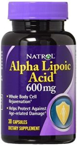 Acide alpha-lipoïque ALA – acide thioctique – 600 mg – 30 gels