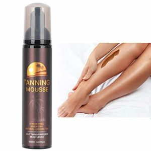 ALIVER 100 ml autobronzant, corps noir bronze mousse bronzante longue durée bronzage pour femmes hommes maquillage pour le corps