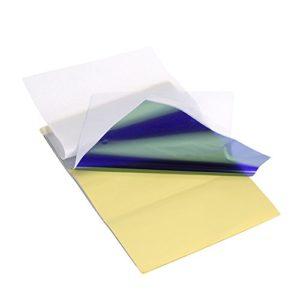 Anself 15 Feuilles Papier de Transfert de Tatouage Papier Thermique de Copie de Pochoir de Carbone Papier-Calque avec 4 Couches, Carbone Tatouage, Stencil Tatouage, Accessoire Tatouage Professionnel