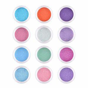 Anself 6 couleurs/ensemble de fard à paupières fluorescent mat Pigment néon Palettes de fard à paupières Halloween Manucure Powder