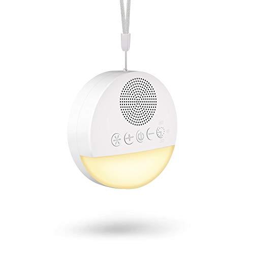Appareil de Sommeil Thérapie Sonore, Cohotek Machine à Bruit Blanc Portable pour Voyage, avec 20 Sonneries pour Bébé et Insomnie, Fonction de Mémoire/USB rechargeable/Veilleuse/Contrôle du Volume
