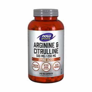 Arginine et citrulline, 500/250 mg, 240 g̩lules v̩g̩tales РNow Foods