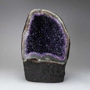 Astro Gallery of Gems Géode en améthyste avec Calcite du Brésil (38,1 cm – 42 lbs)