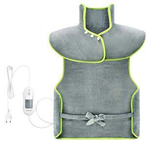 ATMOKO Coussin Chauffant 100 x 60cm pour Epaules et Dos Portable avec 3 Niveaux de Températures, Protection contre Surchauffe Ultra-Doux pour Relaxation et Détente du Corps-Vert