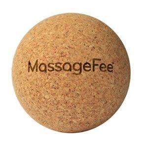 Balle de massage en liège – Boule d'automassage des fascias TriggerFairy®. Appareil naturel d'automassage des points gâchettes et des fascias pour la nuque, les épaules, le dos, les fesses et les pieds.