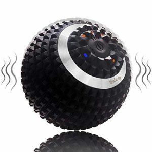 Balle Massage Electrique Vibrante Wolady Boule Massage Rouleaux en Mousse Dos Pieds Yoga Fitness 4 Modes Rechargeble Stimulation Musculaire Anti Douleur Relâchement Des Tensions Musculaires