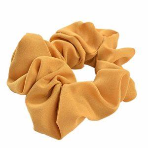 Bandeau élastique de qualité supérieure – Couleur pure – Couleur : jaune – Avec pierre de transport.