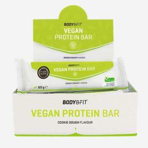 Barres Protéinées Véganes»Vegan Protein Bar» – Boite de 12 – Gout: Pate à cookies