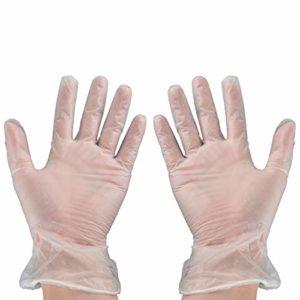 Beaupretty Gants Jetables 60 Paires Gants de Protection Transparents Gants de Protection Chirurgicaux Médicaux pour Le Nettoyage Lavage Laboratoire Manipulation Des Aliments