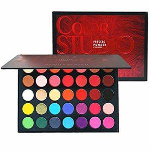 Beauty Glazed 35 Couleurs Ombre à Paupière Matte & Shimmer, Palette de maquillage hautement pigmentée, Longue Durée Palette de Fard à Paupière